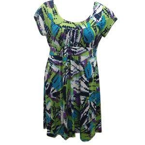 Dress Barn Size 12 Dress Midi Stretch Abstract